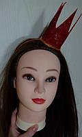 """Корона на ободке для волос """"Красная Королева"""""""
