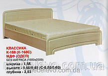 Кровать К-160 Классика ДСП  160х200 800х1680х2030мм  Абсолют, фото 2