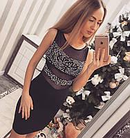 Женское красивое платье в камнях в рацветках (Турция), фото 1