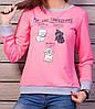 Стильный женский джемпер розового цвета с принтом, фото 3