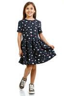 Платье для девочки с модным рисунком