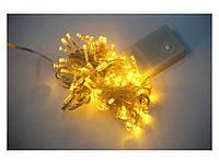 Светодиодная гирлянда желто-голубая 103 LED, новогодняя гирлянда