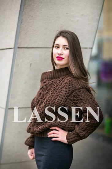 Вязаный свитер ручной работы L86