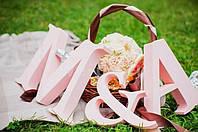 Буквы из пенопласта для свадебных декораций