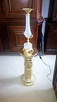 Настольная лампа  с колонной.