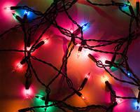 Гирлянда разноцветная/синяя 200L ROCKETS (лампочки в форме конуса)