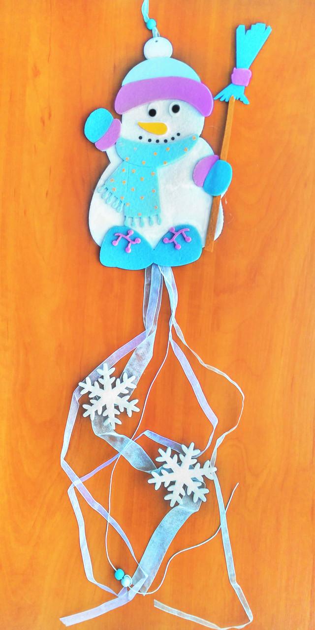 Подвеска снеговик 100 см