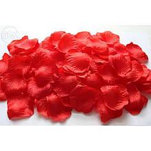 Лепестки роз декоративные красные 2 упаковки 48 шт