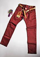 Терракотовые джинсы для девочек