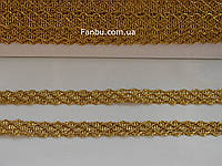 """Золотая декоративная тесьма """"соты"""" металлизированная, ширина 1.3 см"""