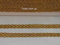 """Золотая декоративная тесьма """"соты"""" металлизированная, ширина 1.3 см, фото 1"""