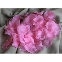 Декор лепестки роз розовые 2 упаковки 200 шт