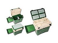 Ящик пластиковый для зимней рыбалки Winner лоток+карман с мягкой накладкой до 140 кг.