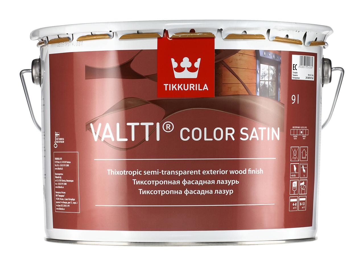 Лесирувальний антисептик Tikkurila Valtti Color Satin 9л