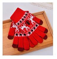 Перчатки для сенсорных экранов Touch Gloves Red deer (красные)