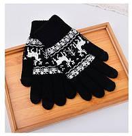 Перчатки для сенсорных экранов Touch Gloves Black deer (черные)