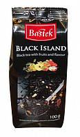 Чай черный листовой с фруктами Bastek Black Island 100g
