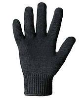 Перчатки теплые серые двойная вязка (уп.6шт)