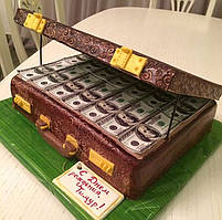 "Торт на заказ ""Чемодан с долларами"""