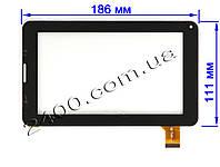 Сенсор (тачскрин) для планшета Freelander PD200 (186*111 мм) 30pin