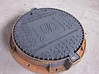 Люк канализационный тяжелый из высокопрочного чугуна ВЧШГ 500-7 тип Т (С250) KCU71PKV2 КИЕВВОДОКАНАЛ (Чехия), фото 3