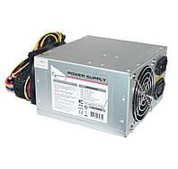 Блок живлення Gembird 550W CCC-PSU7X, 2 x 80mm, 20+4pin, 1x4pin, SATA х 2, Molex 6x4pin, 1х6pin, кабеля немодульные
