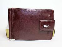 Кожаный кошелек-скрепка Braun Buffel коричневого цвета