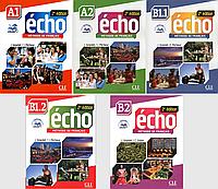 Навчальний курс французької для учнів 7-11 класів Echo 2e édition (Livre de l'eleve + Cahier d'exercices)