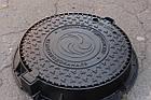 Люк канализационный тяжелый KASI тип Т (С250) KСU71P c логотипом заказчика (Чехия), фото 6