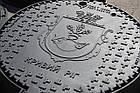 Люк канализационный тяжелый KASI тип Т (С250) KСU71P c логотипом заказчика (Чехия), фото 9