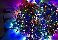 Разноцветная большая гирлянда 600 лампочек NET LEVEL