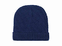 Вязаная зимняя шапка мужская