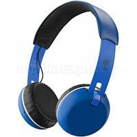 Наушники накладные SKULLCANDY Grind Bluetooth с микрофоном Сине-Кремовый