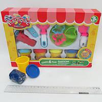 "Тесто для лепки ""Plasticine magical"" 4цв 200g, набор с формочками и инструментами"