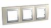 Рамка 3 поста Титановый/алюминий Schneider Electric Unica Top