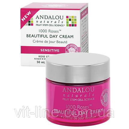 Andalou Naturals, Дневной крем для чувствительной кожи, 1000 роз, (50 мл), фото 2