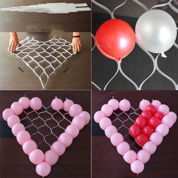 матрица сердце из шариков