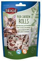 Trixie TX-42702 PREMIO Fish Chicken Rolls 50г - рулетики для кошек с курицей и минтаем