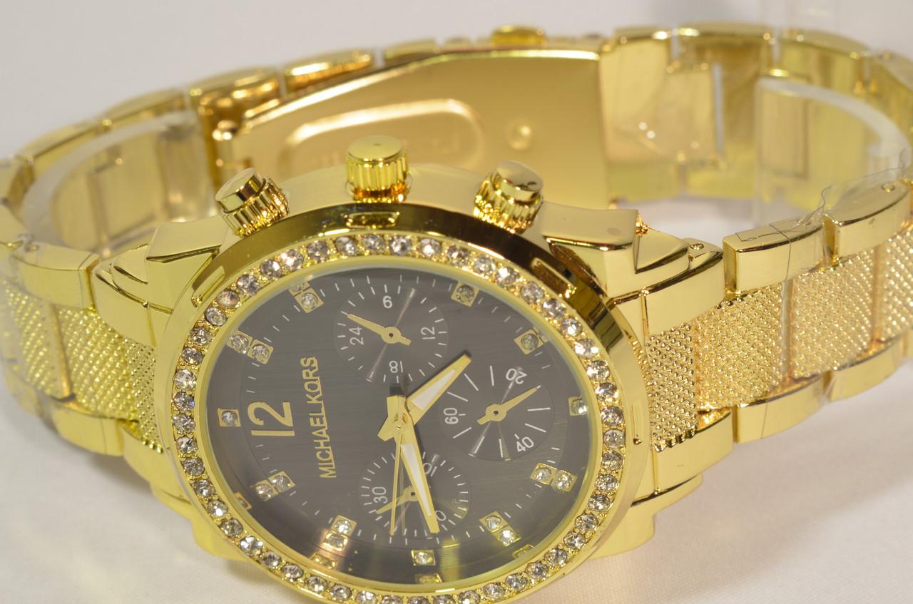 Женские часы MICHAE-L KOR-S GOLD Black копия