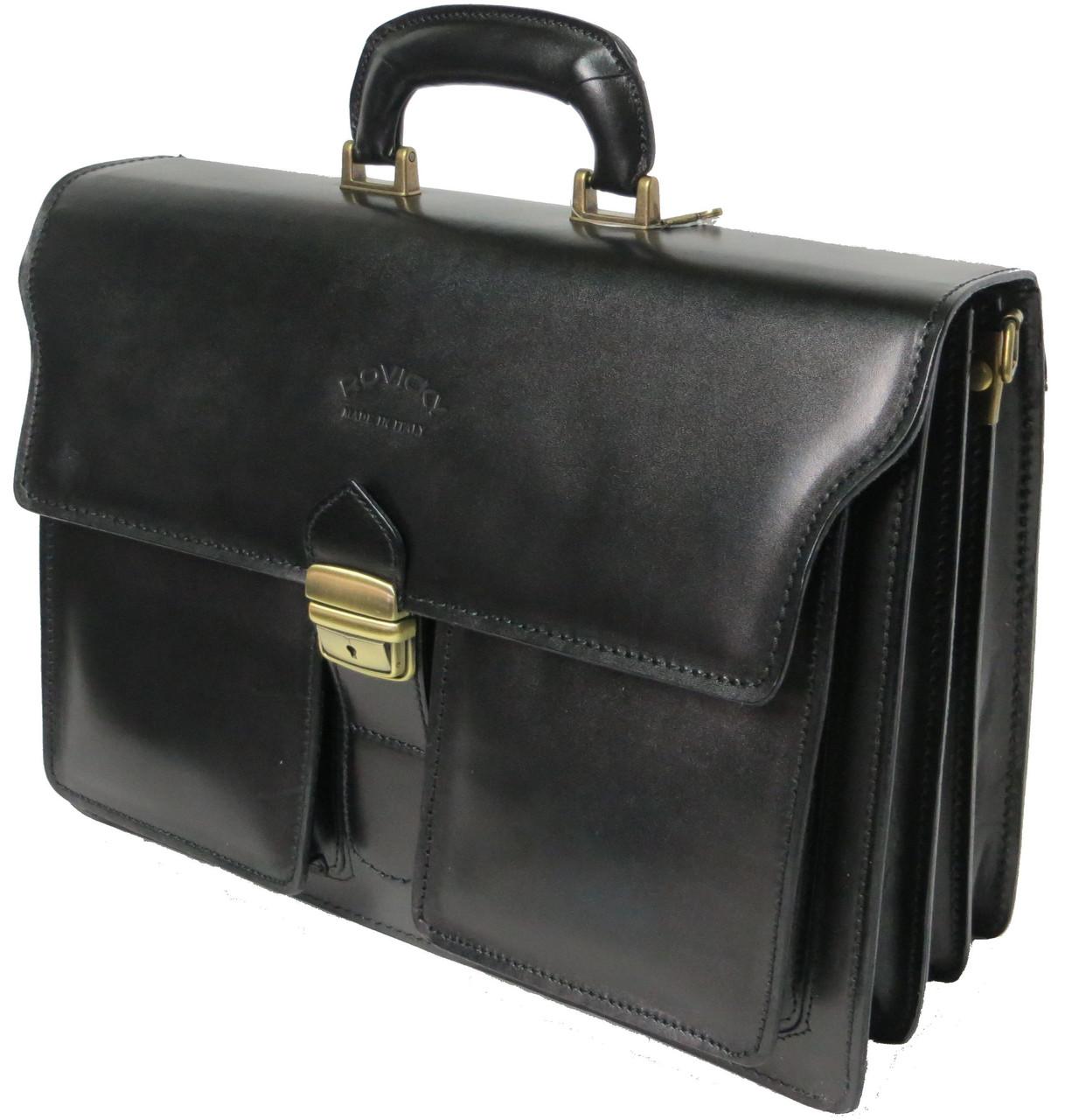 Портфель из натуральной кожи Rovicky AWR-5 черный