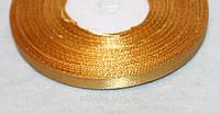 Лента атласная  851  золото 6 мм