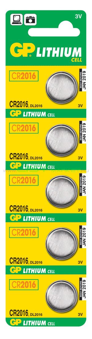 Батарейки GP Lithium CR2016