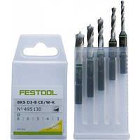 Кассета со свёрлами BKS D 3-8 CE/W-K Festool 495130