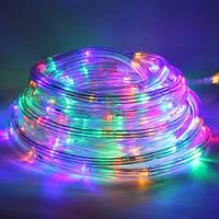 Светящийся шланг гирлянда разноцветный 10m FLAT (плоский)