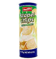 Чипсы Stapel chips с луком и сметаной, 175 г