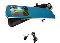 Автомобильный видеорегистратор-зеркало с выносной камерой заднего вида DVR-T1