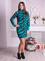 Оригинальное теплое платье-туника больших размеров (рр 50-58), разные цвета