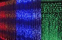 Светодиодная гирлянда дождь водопад LED 50 WATER PROOF RGB разноцветная