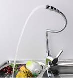 Смеситель кран на кухню однорычажный трансформер, фото 3