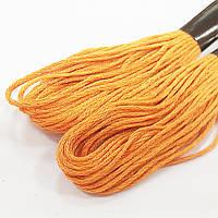 Нитки для вышивки, мулине (8 метров), светло оранжевый